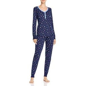 NWT AQUA Stars Printed Thermal Pajama Set #K18